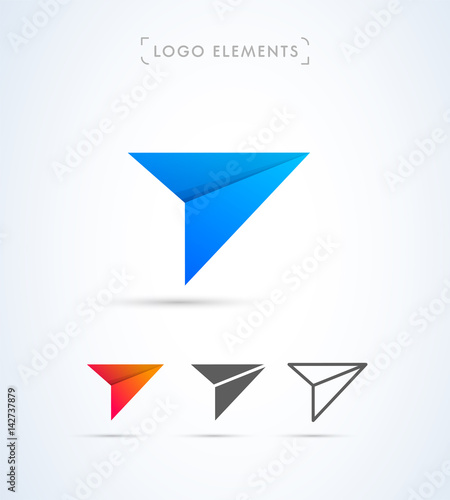 """Origami paper airplane logo template"" Stock image and ..."