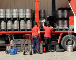 deliverers of beer barrils