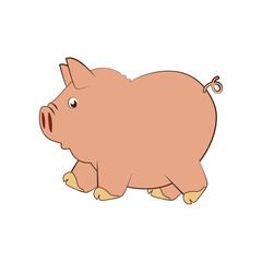 piggy character funny icon vector illustration design