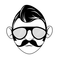 man character hipster style vector illustration design