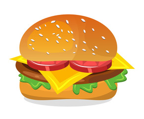 hamburger vector symbol icon design.