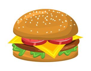 hamburger vector symbol icon design.