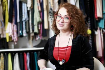 Designer clothes in showroom