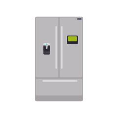 fridge household appliances vector icon illustration colored