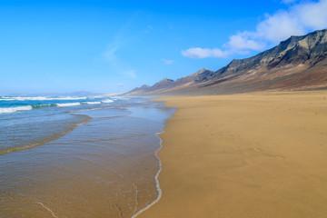 Beautiful Cofete beach, Fuerteventura, Canary Islands, Spain