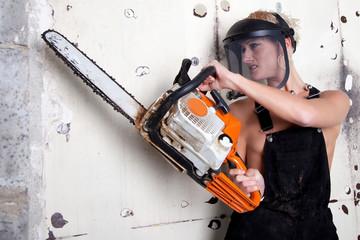 Worker Woman on warlike style