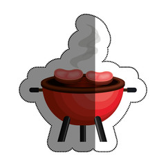 bbq grill delicious food vector illustration design