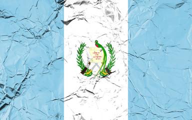 Fotobehang Schilderingen Flag of Guatemala
