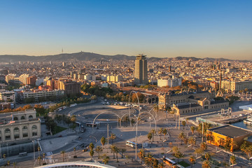 Fotobehang Londen Barcelona — city in Spain, capital of the Autonomous region of Catalonia and of the province. November 2007