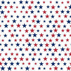 Background with stars in the American flag theme. Stock vector.