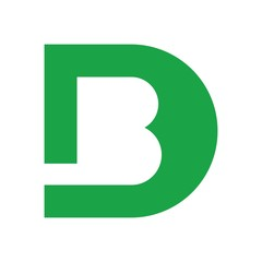 Obraz d and b logo vector - fototapety do salonu