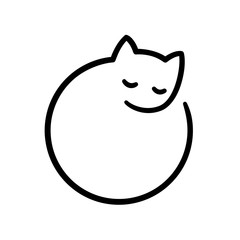 Minimal cat logo