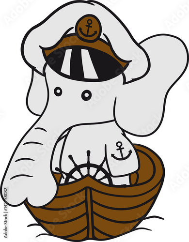 kapitän matrose captain seefahrer seegeln schiff boot kleiner süßer ...