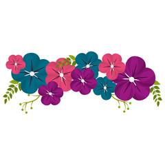 cute flower branch decoration