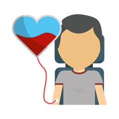 man donating blood icon