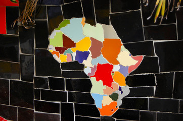 African Continent on Tiles