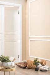 modern corner concept and pillows white door interior design