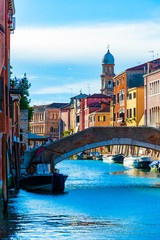 Bridge over Venetian Canal, Italy