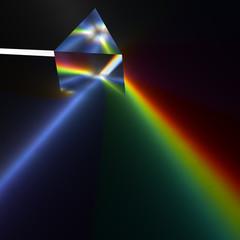 プリズムによる分光のCG