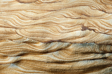 natural texture and pattern on the rock weathered by sea water, wind and see breeze, located at Yehliu National Park in Taiwan