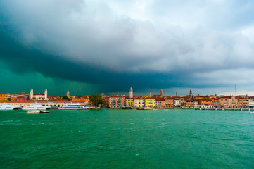 Storm over Venice Italy