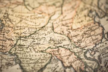 アンティークの古地図 南アジア