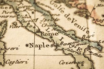アンティークの古地図 イタリア