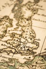 アンティークの古地図 イギリス