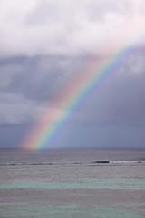 Raindow over the sea.