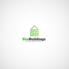 Eco Buildings logo.