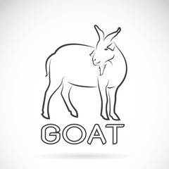 Vector of a goat on a white background. Wild Animals.