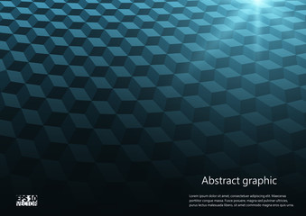 Abstract perspective background with cubes