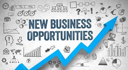 new business opportunities  / Wall / Symbols / Arrow