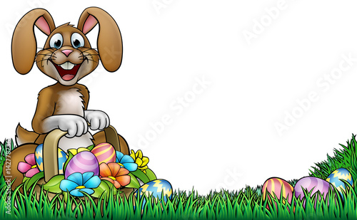 """Easter Bunny Egg Hunt Background"" Stock Image And Royalty"