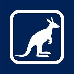 Kangaroo icon - Illustration