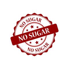 No sugar red stamp illustration