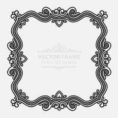 Vintage vector set retro frame, cards. Floral royal engraving design labels advertising place for text. Flourishes Line calligraphic background.