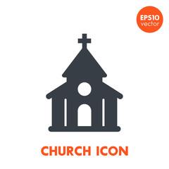 church icon over white