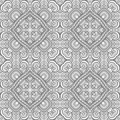Vector Monochrome Abstract Pattern. Lace. Deco Ornament. For Coloring