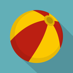 Colorful children ball icon, flat style