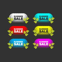 Summer sale banners set
