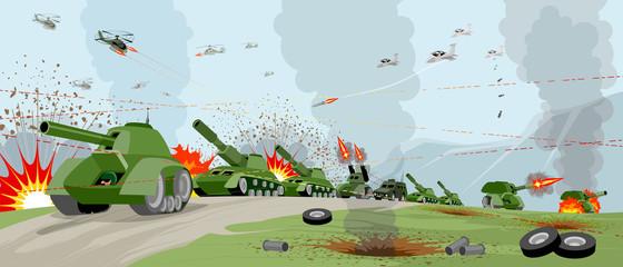 Armies on battlefield