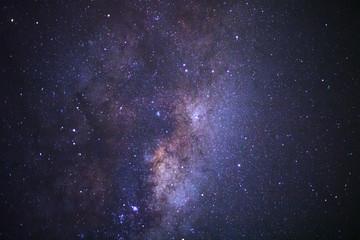 Close up milky way galaxy at phitsanulok in thailand. Long exposure photograph.with grain