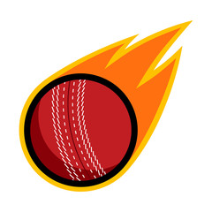 Cricket sport comet fire tail flying throw