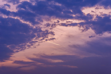 Twilight Time Sky Clouds Background