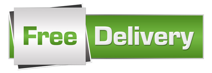 Free Delivery Green Grey Horizontal