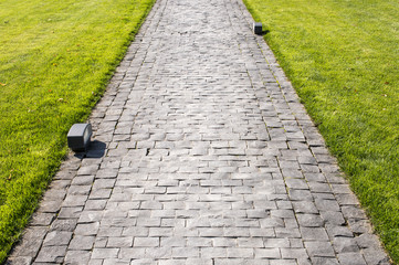 stone-paved footpath