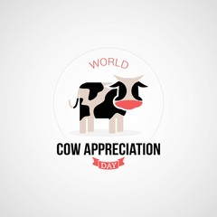 World Cow Appreciation Day Vector Illustration. Suitable for Greeting Card, Poster and Banner.