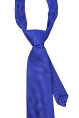 Blue Necktie isolate on white background
