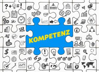 Kompetenz / Puzzle mit Symbole